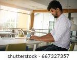 african american business man... | Shutterstock . vector #667327357