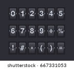 set of numbers and symbols on a ... | Shutterstock .eps vector #667331053