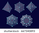polyhedrons. shapes. geometry.... | Shutterstock .eps vector #667340893