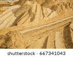 quarry with sand  sand loading  ... | Shutterstock . vector #667341043