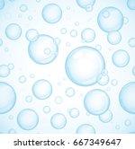 blue bubbles background ... | Shutterstock .eps vector #667349647