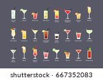 most popular alcoholic... | Shutterstock .eps vector #667352083