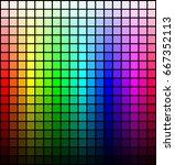 color spectrum palette  hue and ... | Shutterstock .eps vector #667352113