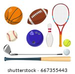 vector sports equipment in... | Shutterstock .eps vector #667355443