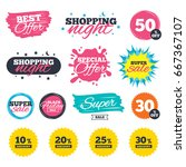 sale shopping banners. special... | Shutterstock . vector #667367107