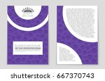 abstract vector layout... | Shutterstock .eps vector #667370743