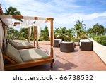 Outdoor Cabana Beds On A...