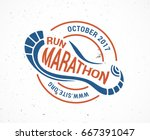 run icon  symbol  marathon... | Shutterstock .eps vector #667391047