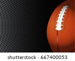 american football rugby on... | Shutterstock .eps vector #667400053