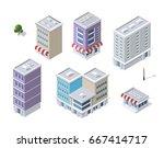 set of modern isometric... | Shutterstock .eps vector #667414717