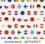vector seamless illustration... | Shutterstock .eps vector #667415017