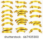 vector ribbon banners.set of... | Shutterstock .eps vector #667435303