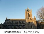 christchurch cathedral in... | Shutterstock . vector #667444147