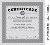 grey certificate diploma or