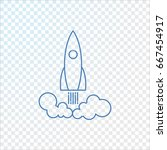 rocket icon vector.  | Shutterstock .eps vector #667454917