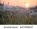 the sunset times. | Shutterstock . vector #667458607