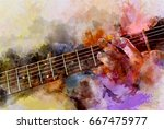 Abstract Playing Guitar...