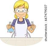 illustration featuring a little ... | Shutterstock .eps vector #667479037