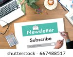 join register newsletter to... | Shutterstock . vector #667488517