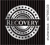 recovery silver shiny badge