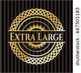 extra large shiny badge