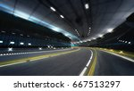 Illuminated City Highway Tunne...