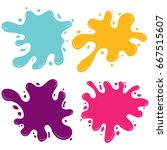 paint ink splat set. paint... | Shutterstock .eps vector #667515607