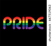rainbow pride on black   Shutterstock .eps vector #667519063