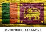 Realistic Flag Of Sri Lanka On...