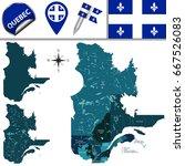 vector map of regions of quebec ... | Shutterstock .eps vector #667526083