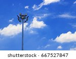 spotlight post in the sky | Shutterstock . vector #667527847