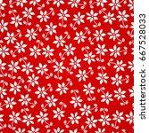 seamless flowers    Shutterstock .eps vector #667528033