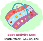 baby musical activity gym... | Shutterstock .eps vector #667528123