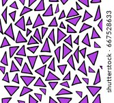 seamless pattern with hand... | Shutterstock .eps vector #667528633