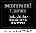 heavy serif typeface. monument... | Shutterstock .eps vector #667531423