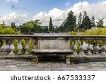 old short small stone weather... | Shutterstock . vector #667533337