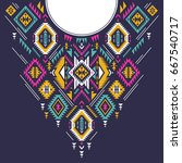 textile design for collar... | Shutterstock .eps vector #667540717