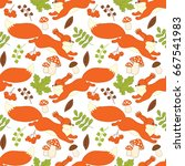 vector seamless pattern with... | Shutterstock .eps vector #667541983