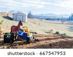 old childrens toys and tractors ...   Shutterstock . vector #667547953