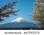 morning fuji | Shutterstock . vector #667552573