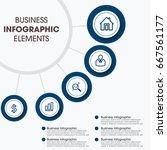 modern infographics elements   Shutterstock .eps vector #667561177