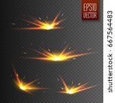 sparks isolated on transparent... | Shutterstock .eps vector #667564483