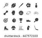 sports silhouettes icons set | Shutterstock .eps vector #667572103
