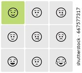 smiles icons | Shutterstock .eps vector #667577317