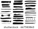 grunge brushes | Shutterstock .eps vector #667583863