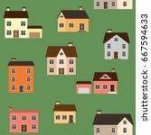 vector seamless pattern with... | Shutterstock .eps vector #667594633