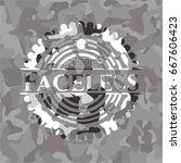 faceless on grey camouflaged... | Shutterstock .eps vector #667606423