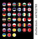 39 europe country national... | Shutterstock .eps vector #667612783