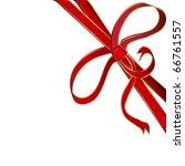 christmas red corner ribbon... | Shutterstock . vector #66761557