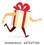 cartoon illustration of gift... | Shutterstock .eps vector #667627183